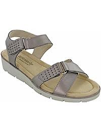 Cushion Walk - Sandalias de vestir de Material Sintético para mujer, color Plateado, talla 3