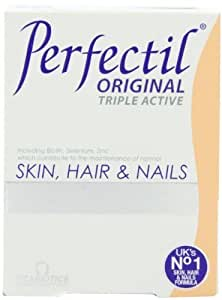 Vitabiotics, Perfectil Triple Active, Essential Nutrients for Skin, Hair & Nails, 30 Count