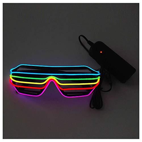 LED Sonnenbrille Neon Brille, Neuheit Nacht Shutter Brille, Geeignet für Halloween Party Karneval, Konzert, Kostüm Party, Abschlussfeier Karneval (2er Pack)