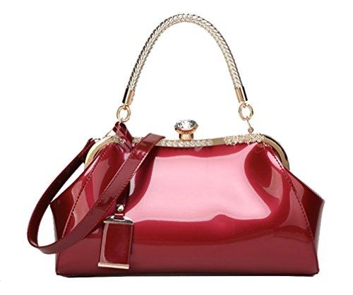 Yan Show, Borsa a tracolla donna rosa Pink Wine Red