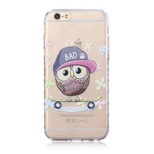 ZeWoo TPU Schutzhülle - BF031 / I Love Giraffe - für Apple iPhone 6 (4,7 Zoll) Silikon Hülle Case Cover BF050 / Hip-hop Owl