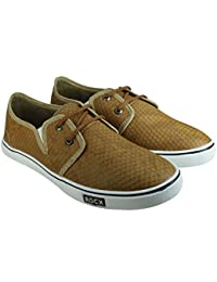 Howdy Brown Canvas Shoes For Men & Boys