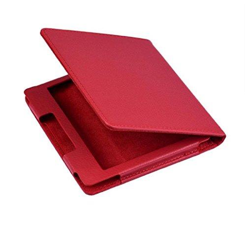 Sannysis 6 pulgadas de Tablet funda Kindle Oasis cuero (Rojo)