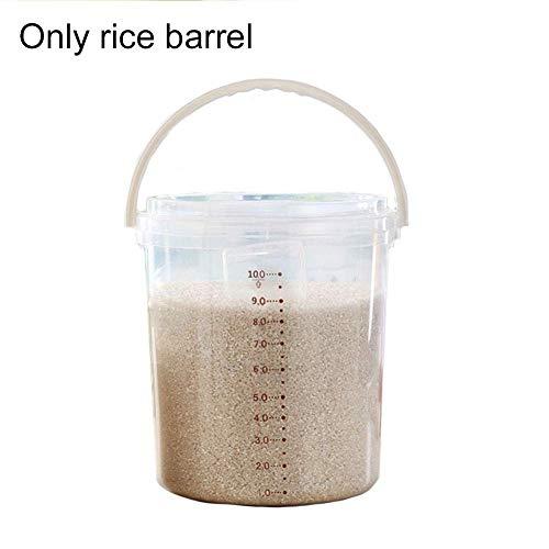 gshhd0 Lebensmittelbehälter Abgestuft Verarbeitet Bohne Küche Vorräte Moth-Proof Aufbewahrung Müsli mit Deckel Feuchtraumsicher Reis Kiste (I) Show, Large
