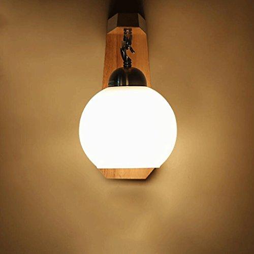 SUN LL Einfache moderne Nachttisch-Wand-Lampe Massivholz-Holzstämme LED-Wandleuchten Wohnzimmer-Gang-Balkon-Lampe...