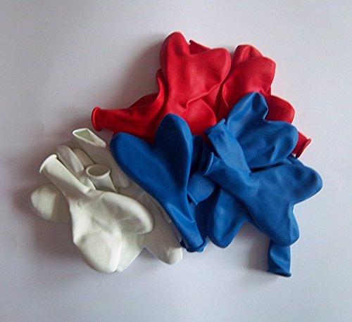 50 weiß rot blau Herz-Luft-Ballon-s-Hochzeit-Herzballons Herzluftballons-Deko-Geschenk-Idee-Schmuck-Schmücken-Helium geeignet- vom-Sachsen-Versand (Hochzeits-ideen Rot, Und Weiß Schwarz)