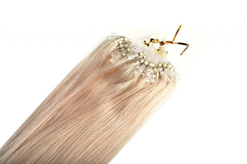 22inch Emosa Stick Micro Loop Straight Human Hair Extensions 50g 100strands #60 Light Blonde