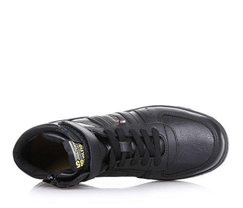 Tommy Hilfiger Zero Jr 4A Black Leather Ankle Boots Black