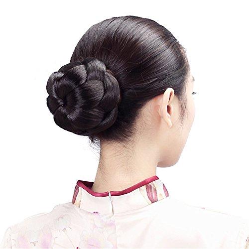 Haar Kostüm Fake (remeehi Kunsthaar Nadel geflochten Bun Hair Extensions Haarteil Kostüm Hochzeit Haar Stück Large Haar Brötchen Fake Haar Dutt Haarteil Schnell)