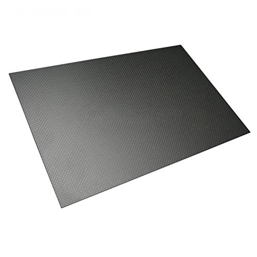 SOFIALXC 3K Carbonfaserplatten CF- Epoxy Platte HT Carbon Platte/CFK Kohlefaser für Modellbau-500mmx600mm-0.5mm