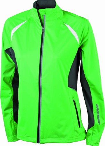James & Nicholson - Giacca da donna sportiva funzionale e antivento, modello Sports Windproof Nero (green/carbon)