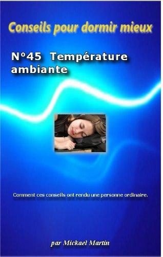 Conseils pour dormir mieux : Température ambiante