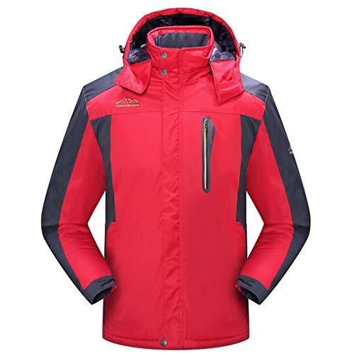 TH&Meoostny Veste d'hiver Chaude Hommes Polaire épais Manteaux imperméables Parka Outwear Coupe-Vent Pardessus Masculin