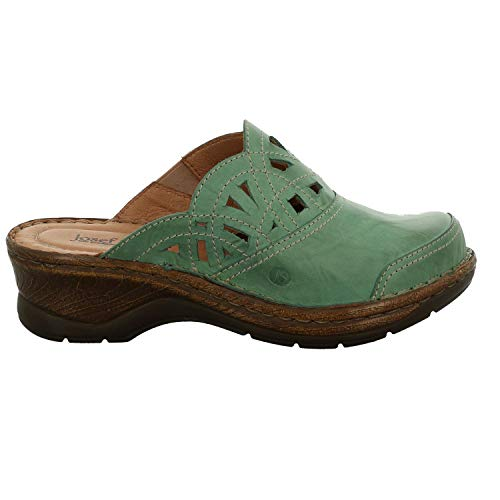 Josef Seibel 56541-95 Catalonia 41 Damen Schuhe Pantoletten Clogs, Schuhgröße:40, Farbe:Grün -