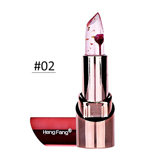 ROMANTIC BEAR Gelee Farbe Andern Lang Anhaltende Befeuchtung Lippenstift Mit Blume LipGloss