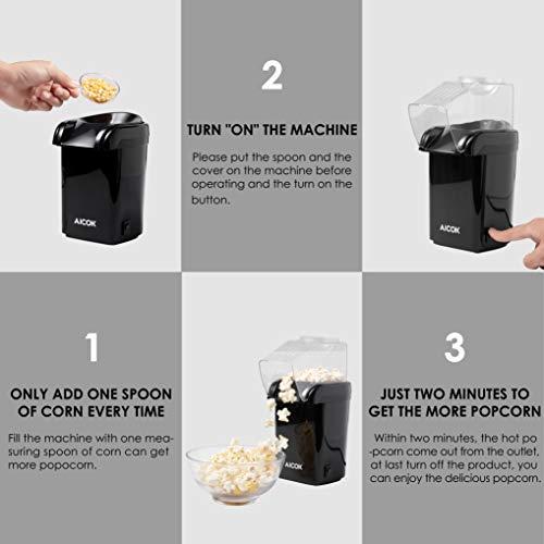 Aicok – Heißluft – Popcornmaschine - 3
