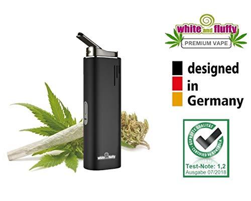 """White and Fluffy® 3in1 Vaporizer für Wachs, Öl und Kräuter Verdampfer \""""Airis Switch\"""" Dry Herb (schwarz)"""