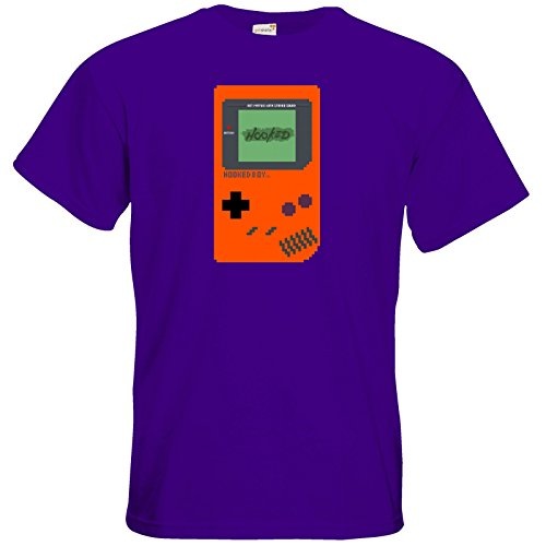 getshirts - Hooked-Store - T-Shirt - Hooked Boy Pixel Orange Purple