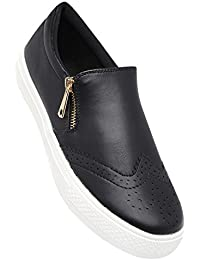 Tresmode Women's Black Synthetic Leather Loafers (201849325)- 6 UK
