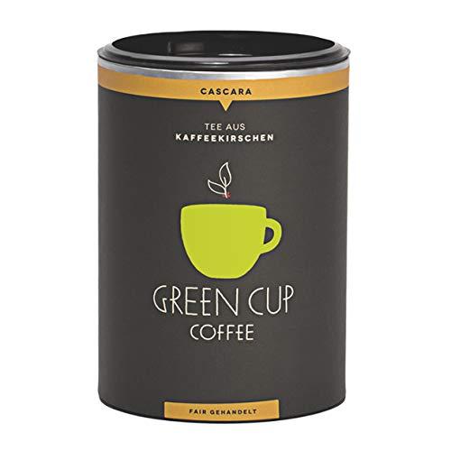 Green Cup Coffee Cascara Tee aus Peru - koffeinhaltiger Tee Getränk aus getrockneten Kaffeekirschen Schalen - hochwertiger Kaffeekirschentee - 150g Dose Green Cup