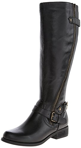 Steve Madden Women's Synicle Motorcycle Boot,Black,6.5 M US image