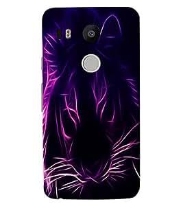 ColourCraft Digital Lion Design Back Case Cover for LG GOOGLE NEXUS 5X