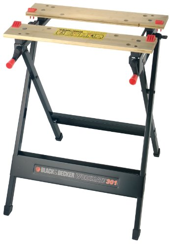 Black and Decker WM301   Banco de trabajo  bambú/acero  Workmate  color negro y madera