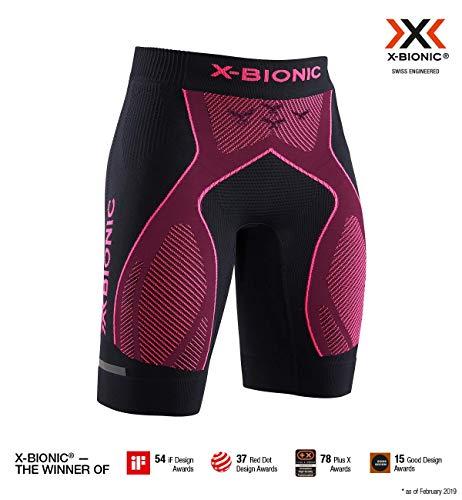 x-bionic the trick 4.0 run shorts women, donna, opal black/neon flamigo, s