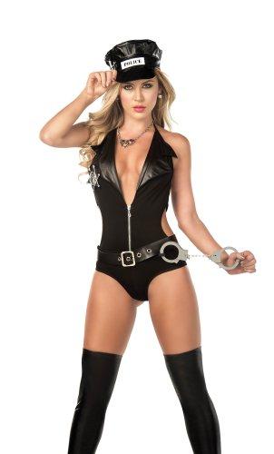 Costume Polizia spirale / corpo / cinghia / Manette / Cap taglia XL
