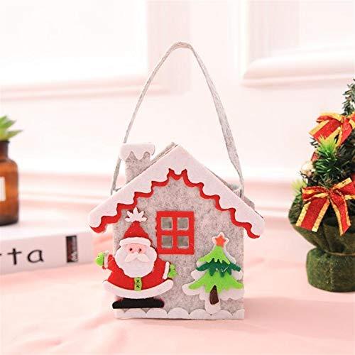 Upstudio Party Taschen Weihnachten Non-Woven Gift Bag Einkaufstasche Christmas Eve Candy Geschenktüte (Grauer Alter Mann)