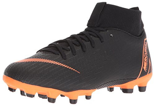Nike-socke Für Mädchen (Nike Unisex-Kinder K-F-Schuh Jr. Superfly Academy MG Fußballschuhe, Schwarz (Black/Total Orange-W 081), 37.5 EU)
