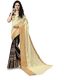 Padmashree Women's Cotton Saree With Blouse Piece