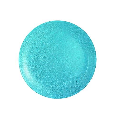 Luminarc 8012306.0 Loft Stony Lot de 6 Assiettes Dessert Verre Bleu 20,5 x 20,5 x 1,8 cm