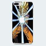 MYCOQUE Coque IPHONE 8 Plus DBZ - Housse en Silicone Manga Dragon Ball Z