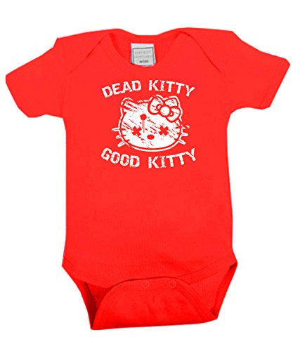 clothinx - Dead Kitty Good Kitty - Babybody Rot, Größe 12/18 Monate