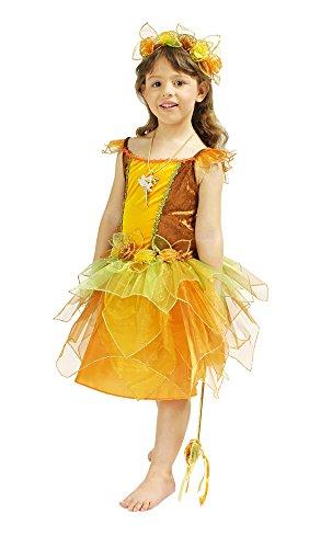 Elfe Luna Kostüm für Mädchen Gr. 116 128 - Schönes Feen Kostüm für Karneval oder Kinderfasching