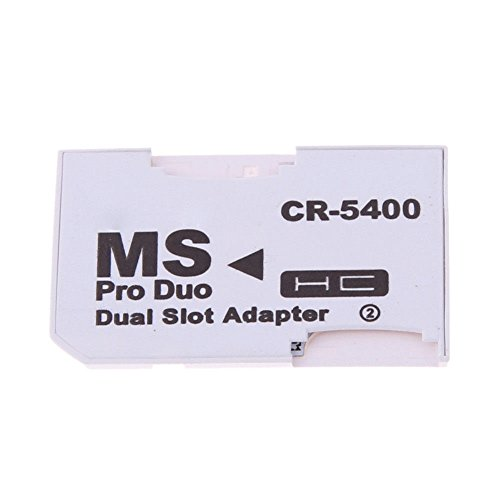Dual 2 Slot Micro For SD SDHC TF to Memory Stick MS Card Pro Duo Reader Adapter For PSP Card Reader work with all sony psp modles