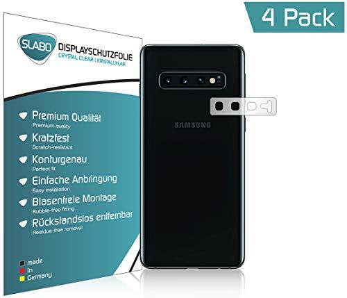 Slabo 4 x Displayschutzfolie für Samsung Galaxy S10+ | S10 Plus Displayfolie Schutzfolie Folie Zubehör Crystal Clear KLAR