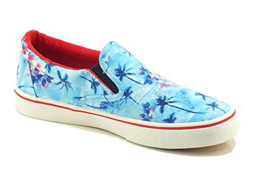 Superga 2311 Fabricfanplu, Chaussons Sneaker Adulte Mixte Bleu (Palms Azul)