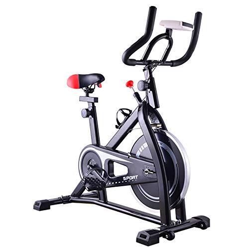 DYS@ Indoor Cycling Bicycles Heimtrainer für Indoor-Sportgeräte, extrem leise, Spinning Bike,Black