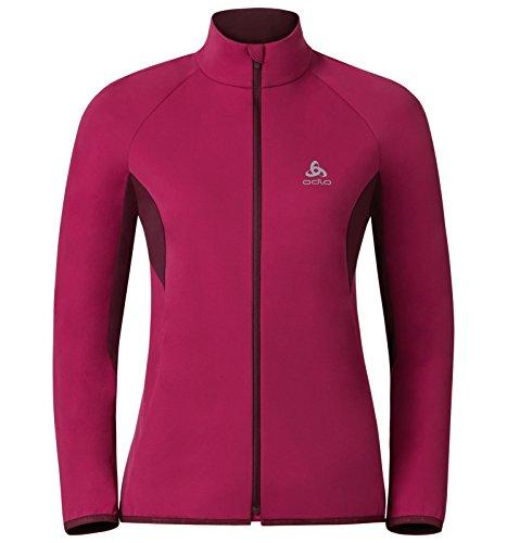 Für Ski-jacke Xs Frau (Odlo Damen Stryn Cross-Country Softshell Jacket, Sangria-Zinfandel, XS)