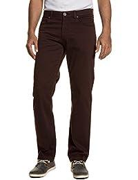 JP 1880 Herren große Größen bis 66 | 5-Pocket-Hose | lange Twill-Hose aus Premium-Baumwolle | gerader Schnitt, casual | dunkelrot, dunkelblau | 711592