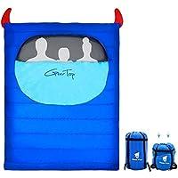 GEERTOP Saco de Dormir Compacto y liviano Tamaño Familiar con Saco de compresión, cálido y