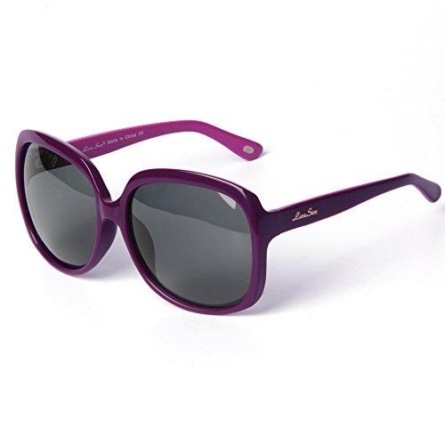 LianSan - Gafas de sol - para mujer ACETATE, POLARIZED PURPLE