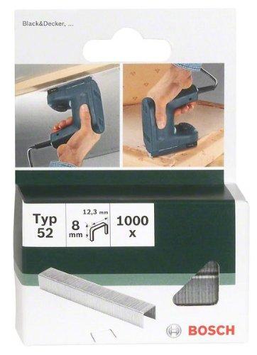 Bosch 2609255835 Set de 1000 agrafes à fil plat Type 52 Largeur 12,3 mm Epaisseur 1,25 mm Longueur 6 mm