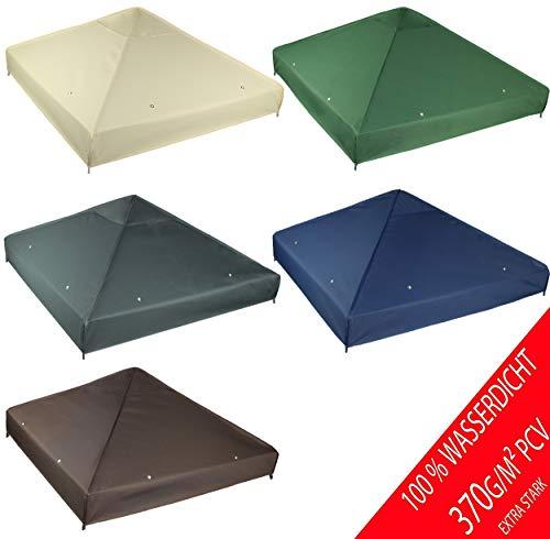 Gartengarten.de Toit de Rechange étanche pour tonnelle 3 x 3 m Matériau : Panama PCV Soft 370...
