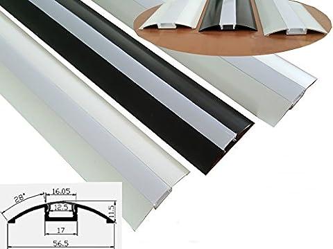 6,99€/m Alu-Profil 05A420 - Schwarz für LED Streifen Stripe Lichtleiste Aluminiumprofil