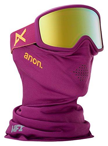 Anon Damen Deringer Snowboardbrille, Purple/Gold Chrome, One Size