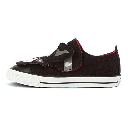 Converse , Mädchen Sneaker Seil/Beerenfarben/Schwarz (Rope/Berry Pink/Black) Schwarz (Black/Mason/Casino)