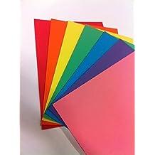 RAINBOW - Juego de 70 hojas de colores, A4, 160 g/m2, colores brillantes